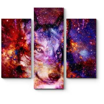 Модульная картина Космический волк