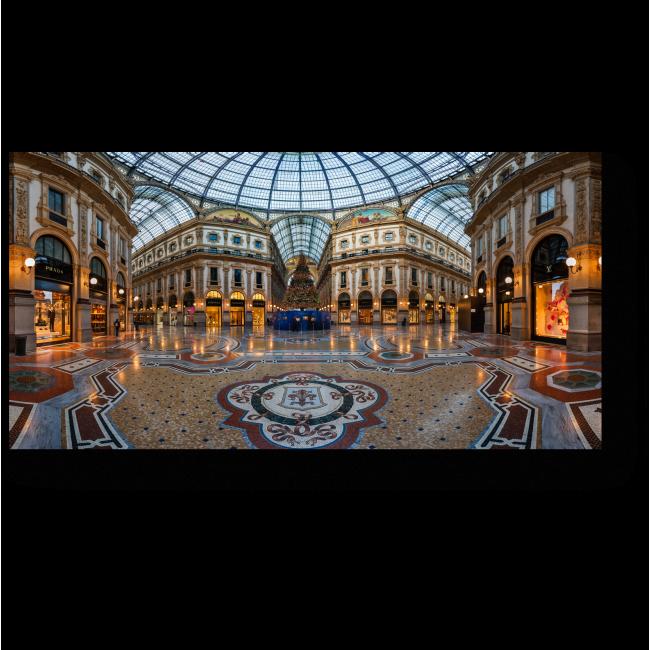 Модульная картина Внутри галереи Виктора Эммануила, Милан