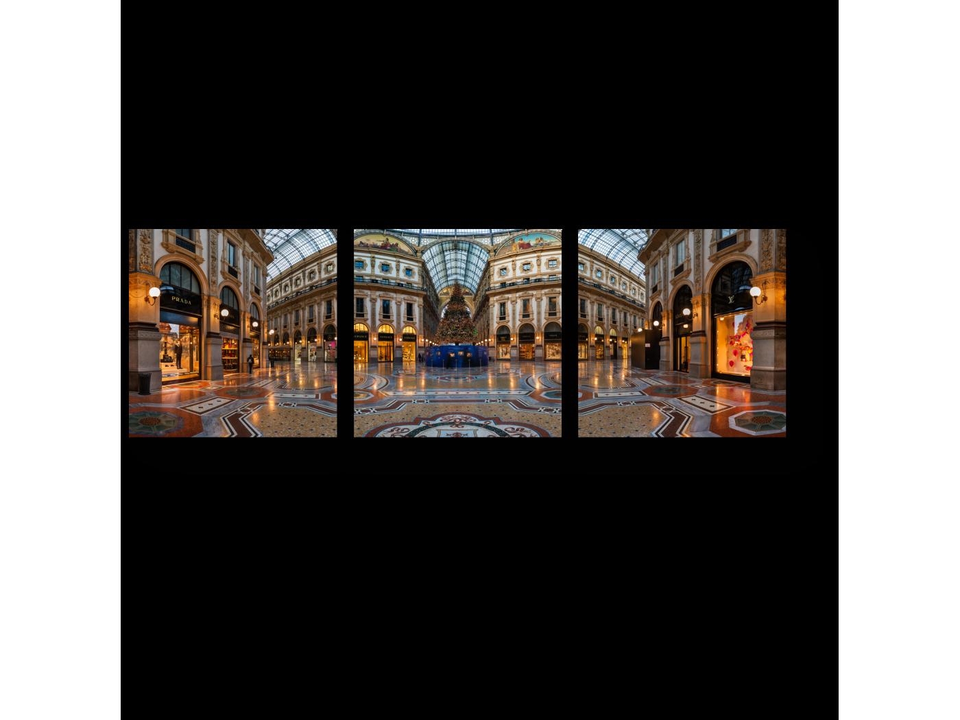Модульная картина Внутри галереи Виктора Эммануила, Милан (60x20) фото