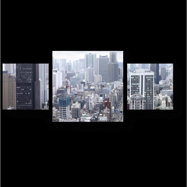 Модульная картина Над крышами Сингапура