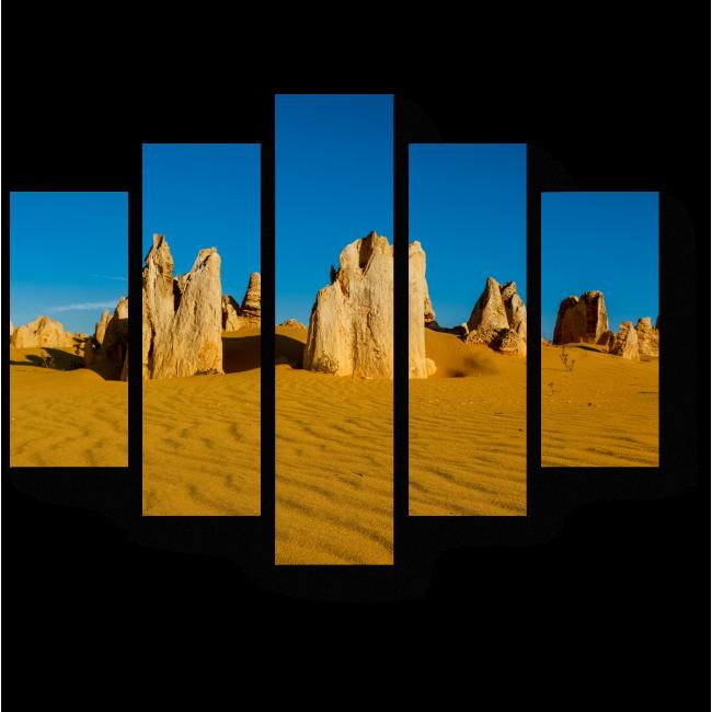 Модульная картина Пустыня остроконечных скал