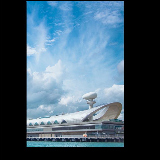 Модульная картина Морской вокзал Гонконга