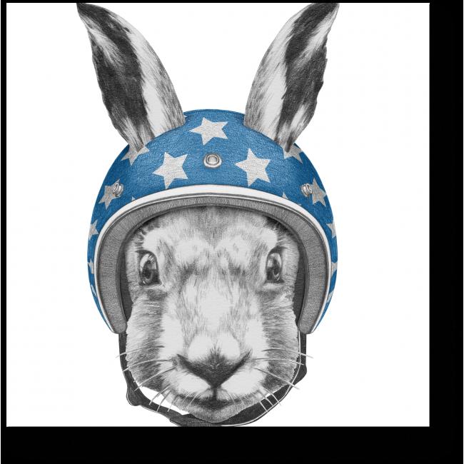 Модульная картина Заяц в шлеме