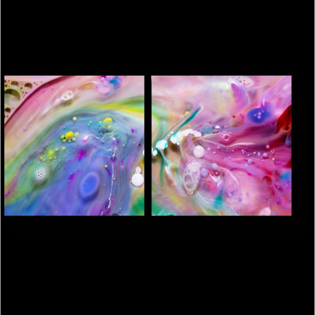 Модульная картина На поверхности воды