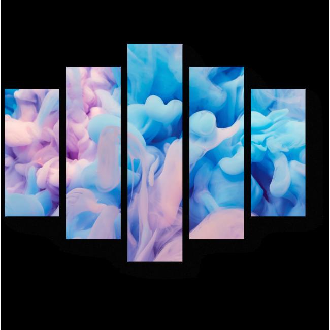 Модульная картина Абстракция в пастельных тонах