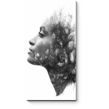 Модульная картина Очаровательный профиль