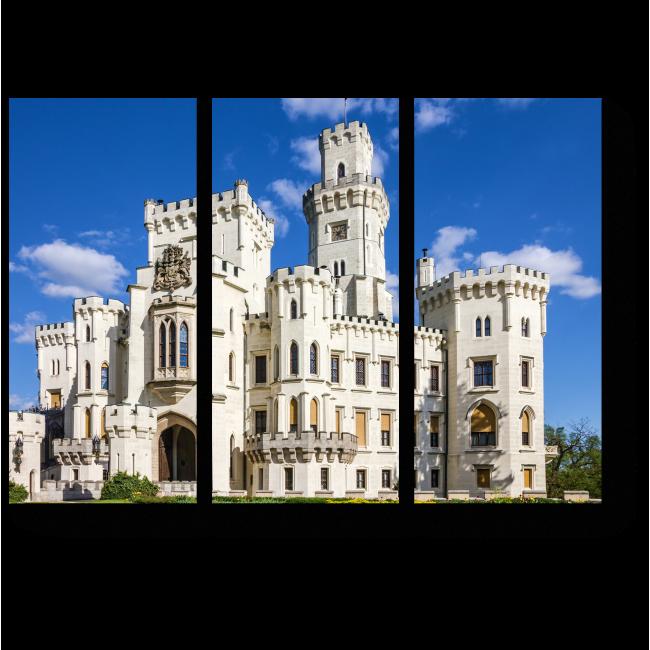 Модульная картина Замок Глубока-над-Влтавой в Чехии