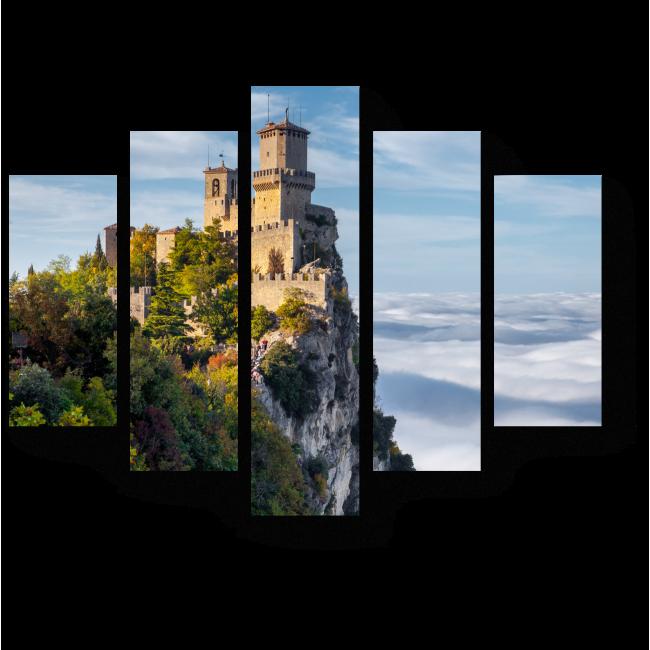 Модульная картина Замок над облаками
