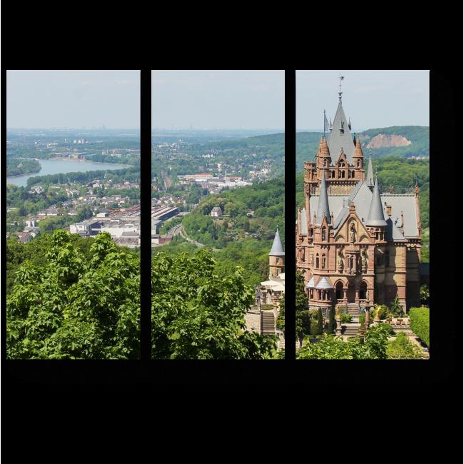 Модульная картина Замок Драхенбург