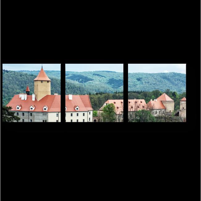 Модульная картина Замок Вевержи в Чехии