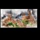 Акварельный рисунок замка Коломарес