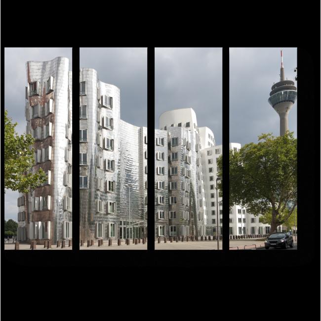 Модульная картина Медиа-гавани в Дюссельдорфе