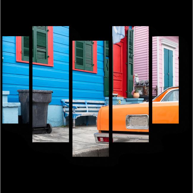 Модульная картина Красочные старинные дома