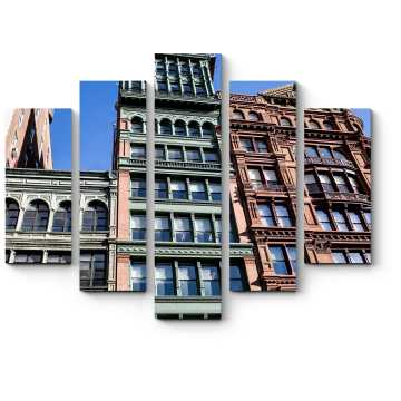 Модульная картина Архитектура Сохо