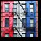 Здание и лестница в Нью-Йорке