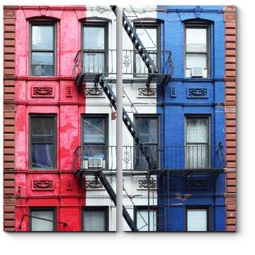 Модульная картина Здание и лестница в Нью-Йорке