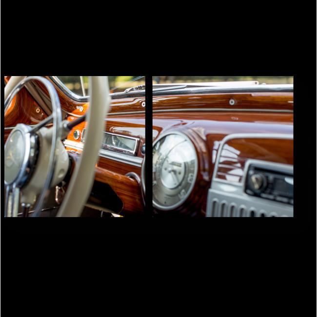 Модульная картина За рулем истории