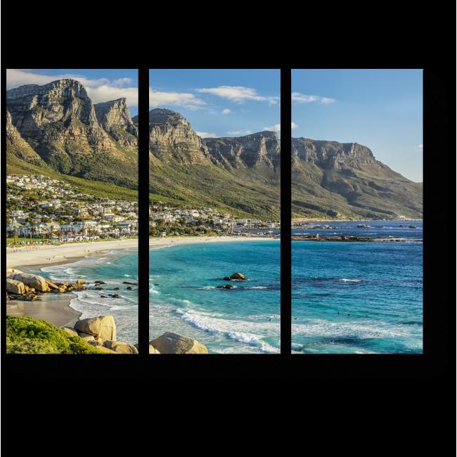 Модульная картина Волны у песчаных берегов Кейптауна