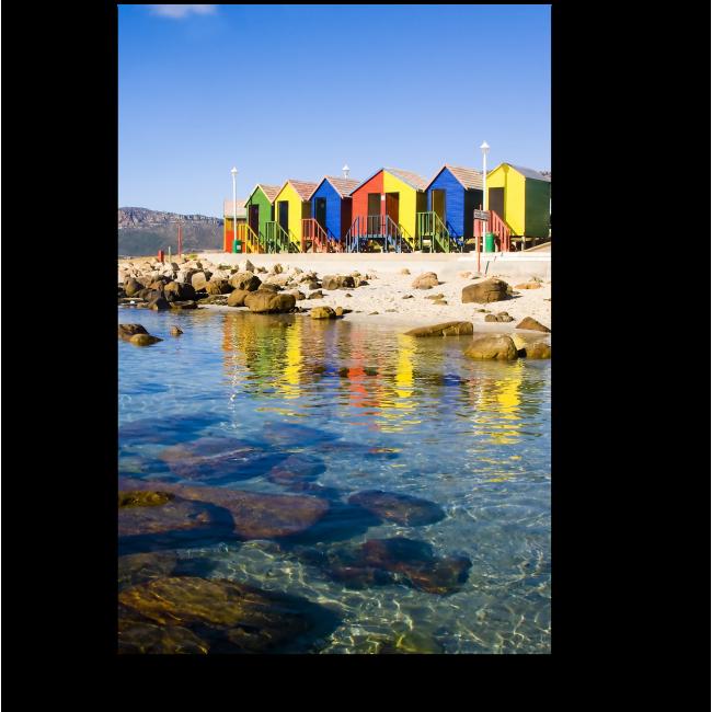 Модульная картина Пустынный пляж, Кейптаун