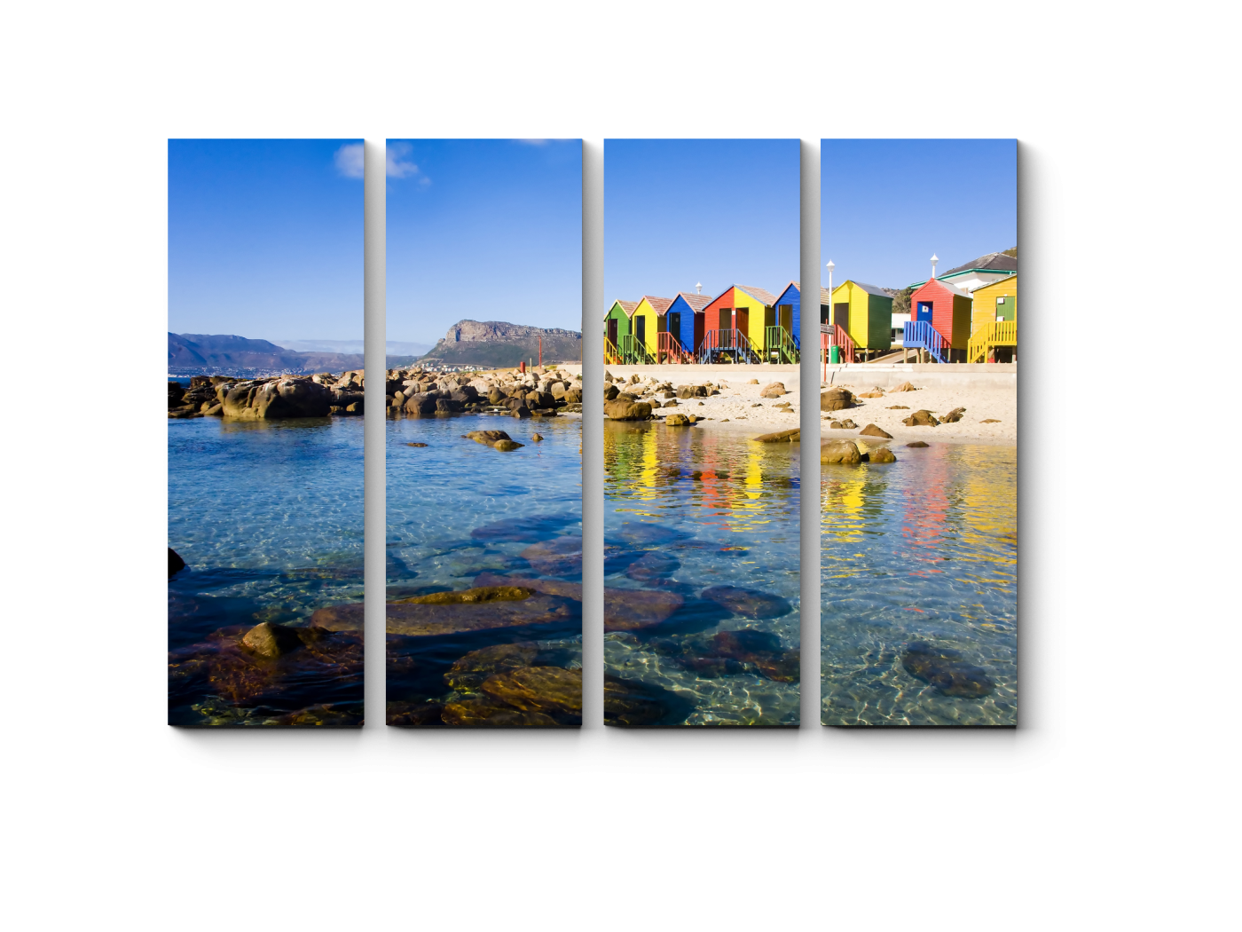 Модульная картина Пустынный пляж, Кейптаун (60x45) фото