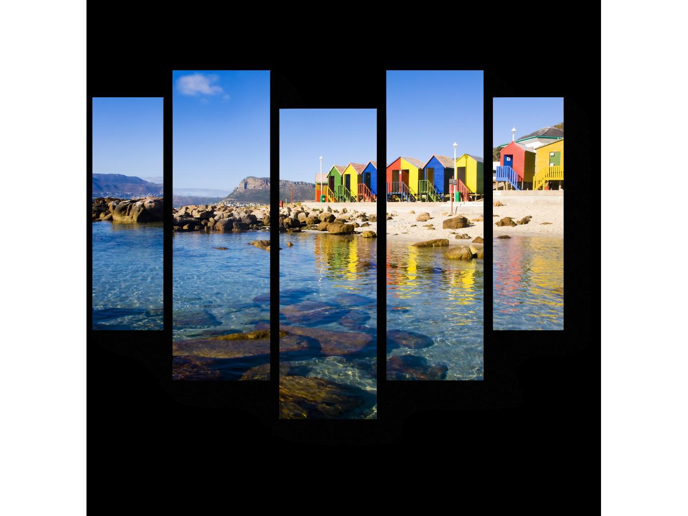 Модульная картина Пустынный пляж, Кейптаун (101x82) фото