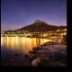 Горящие огни ночного Кейптауна