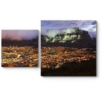 Ватные облака в горах Кейптауна