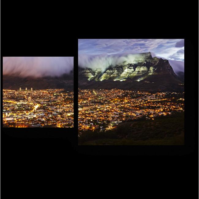 Модульная картина Ватные облака в горах Кейптауна