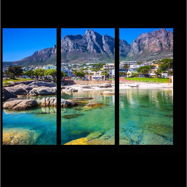 Модульная картина Райский пляж в горах, Кейптаун