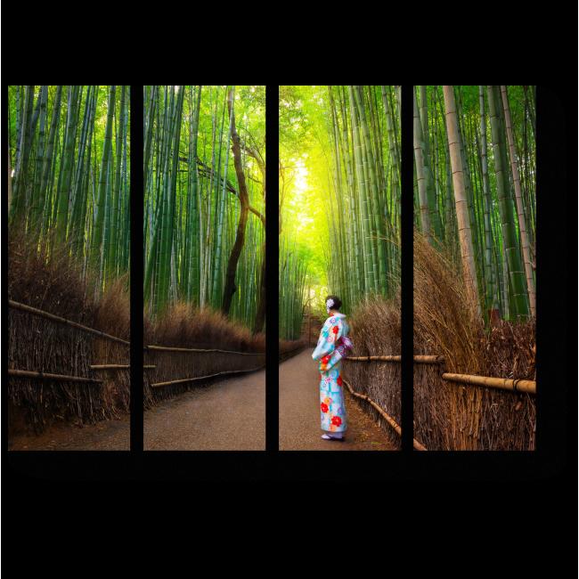 Модульная картина Путь в бесконечность, Киото