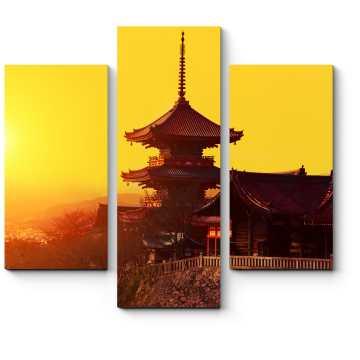 Модульная картина Волшебный закат в Киото