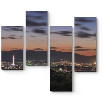 Неповторимая панорама ночного Киото