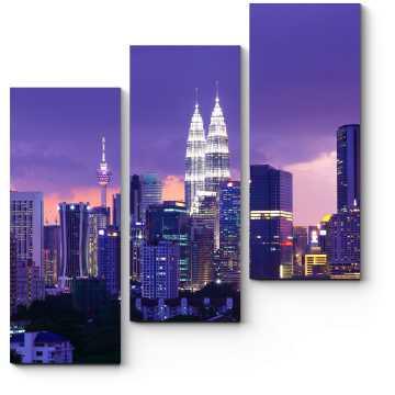 Сияющий в ночи Куала-Лумпур