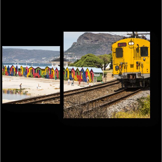 Модульная картина Курс на Кейптаун!