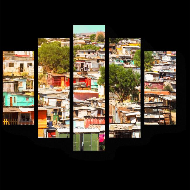 Модульная картина Необычный взгляд на город