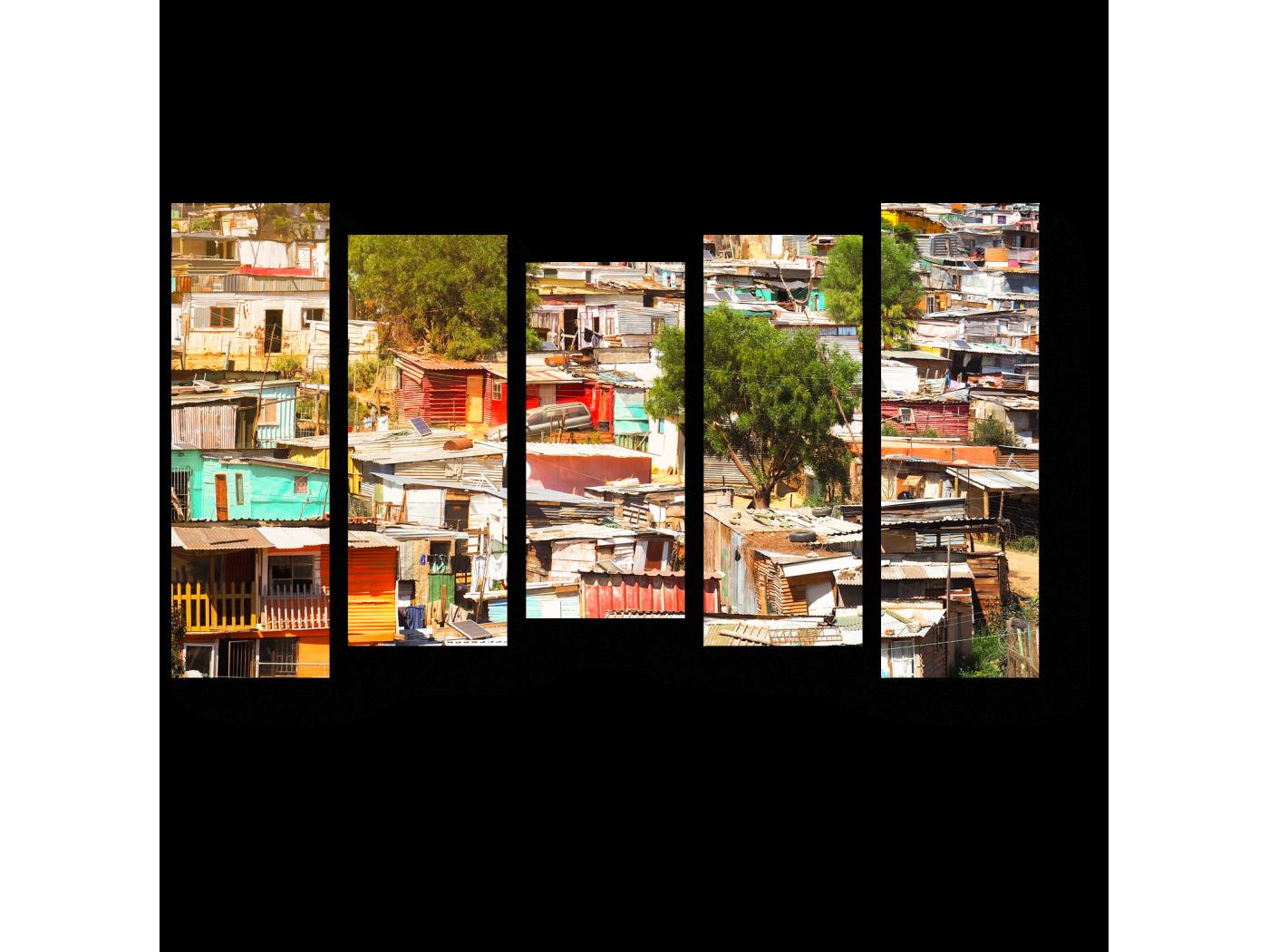 Модульная картина Необычный взгляд на город (90x54) фото