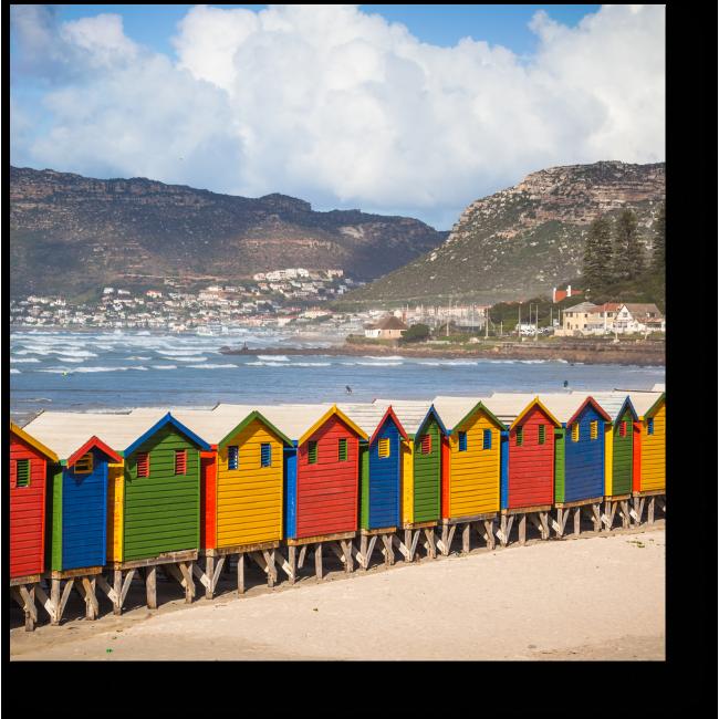 Модульная картина Разноцветный Кейптаун