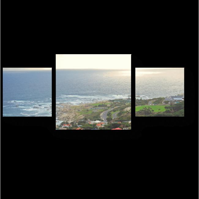 Модульная картина Вид с высоты птичьего полета