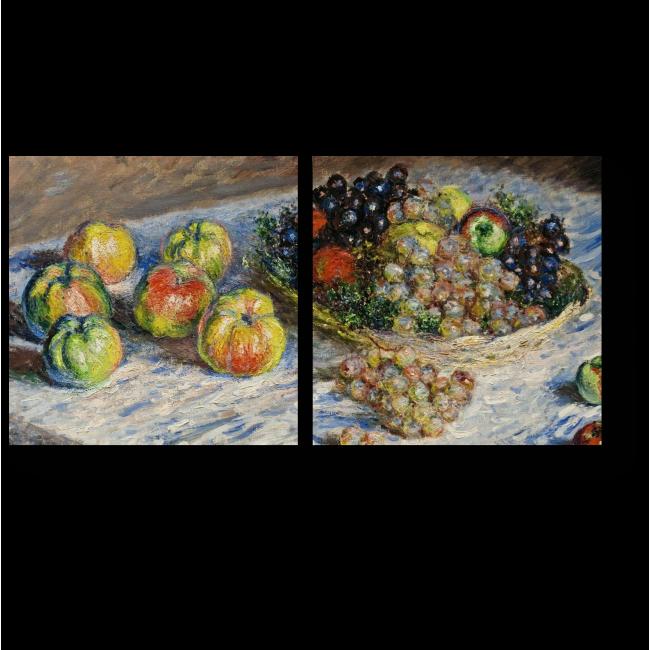 Модульная картина Натрюрморт с грушами и винограом