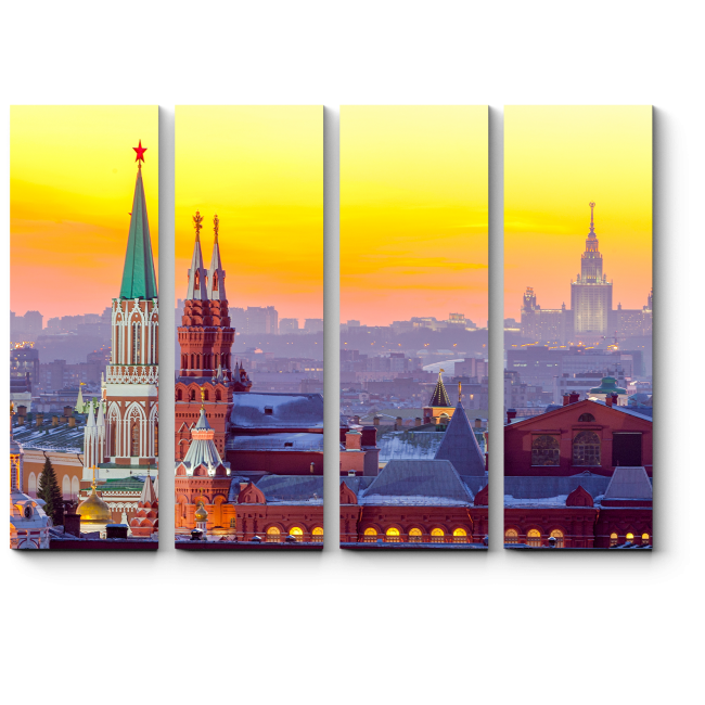 Модульная картина Вечерняя Москва