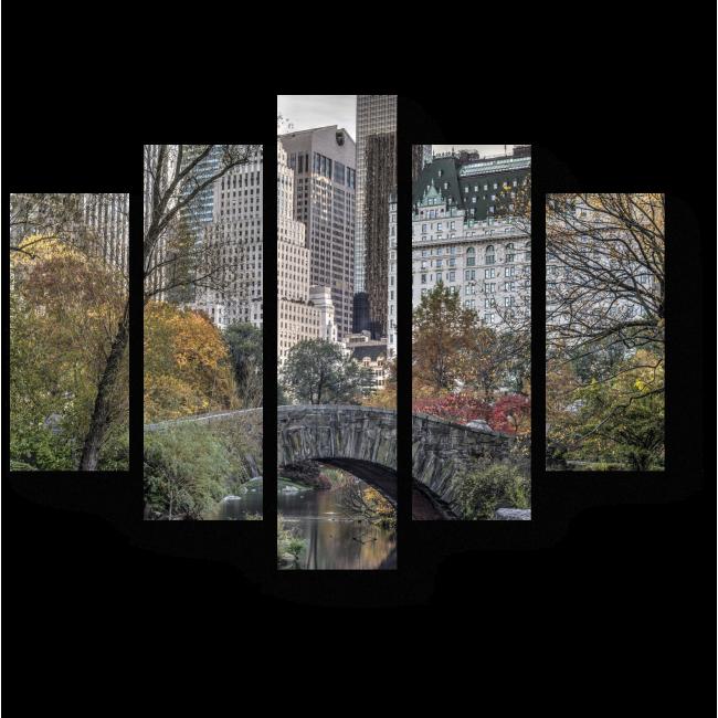Модульная картина Осень пришла в Нью-Йорк
