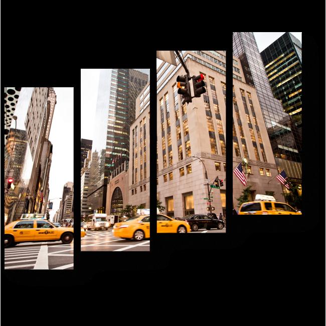 Модульная картина Центральная дорога Нью-Йорка