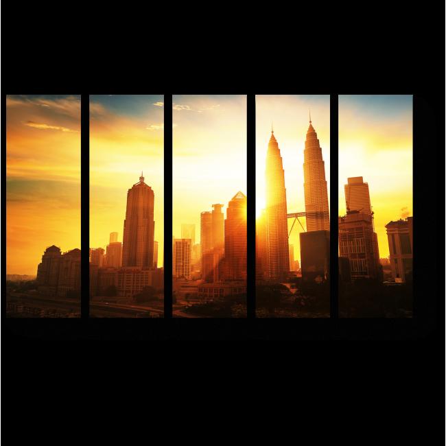 Модульная картина Куала-Лумпур встречает рассвет