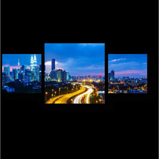 Модульная картина Спящий Куала-Лумпур