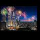 Фееричный фейерверк над Куала-Лумпур