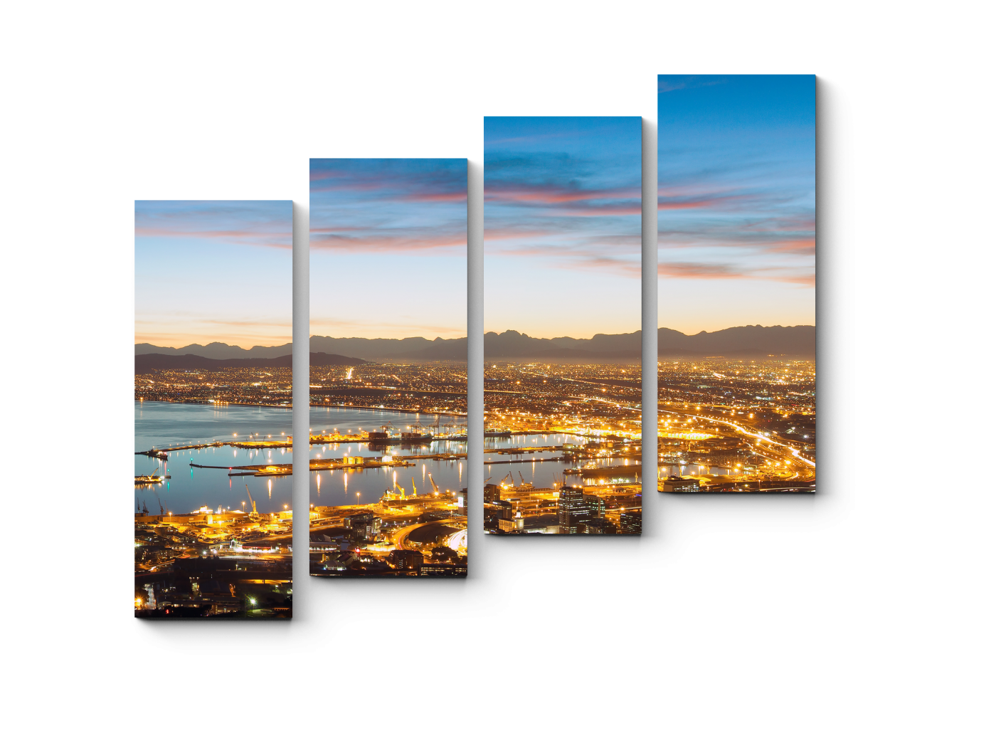 Модульная картина Сказочная панорама Кейптауна (80x69) фото