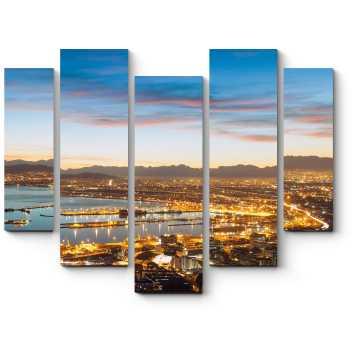 Модульная картина Сказочная панорама Кейптауна