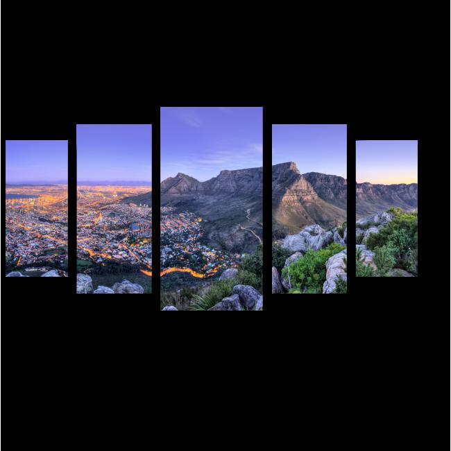 Модульная картина Горная тропа близ Кейптауна