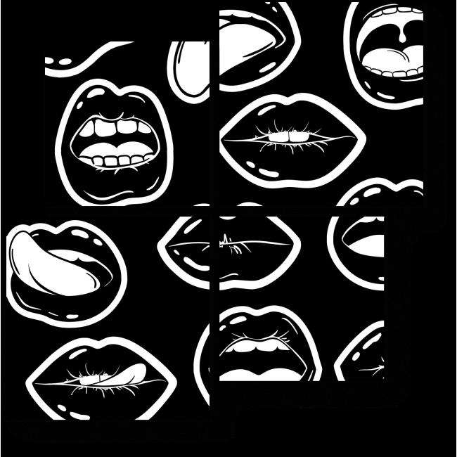 Модульная картина Ох, уж эти губы
