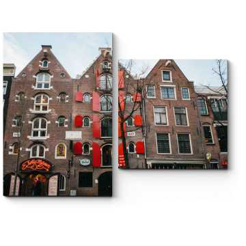 Модульная картина Архитектура улицы красных фонарей